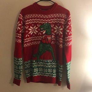 33 Degrees Dinosaur Holiday Sweater